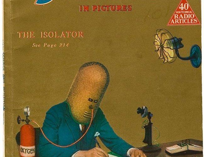 """Okładka czasopisma """"Science and inventions"""". Źródło: http://www.retronaut.com/2014/05/the-isolator/"""