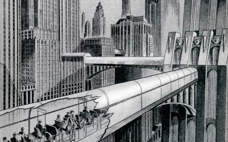"""Świat w roku dwutysięcznym według """"Ilustrowanego Kuryera Codziennego"""" z 1926 roku."""
