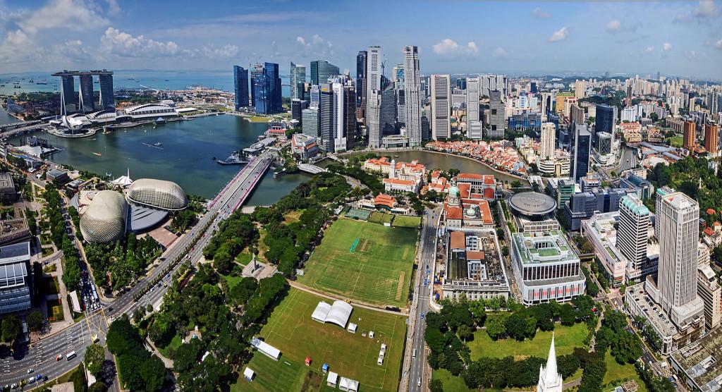 Ładne zdjęcia. Marina Bay w Singapurze. Źródło:  https://flic.kr/p/dtZDCN